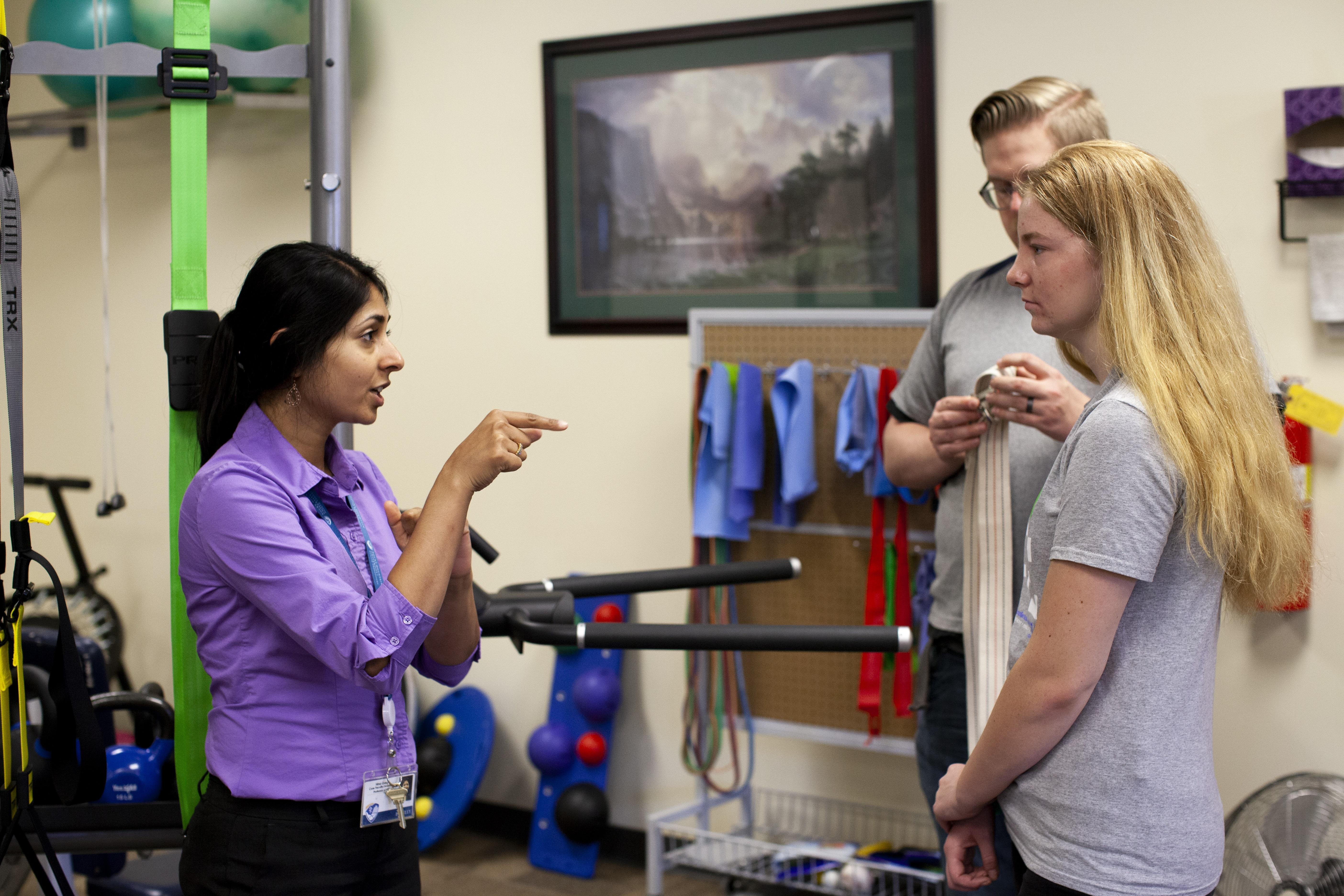 Dr Garg instructing volunteers